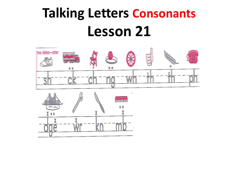 Talking Letters Consonants Lesson 21