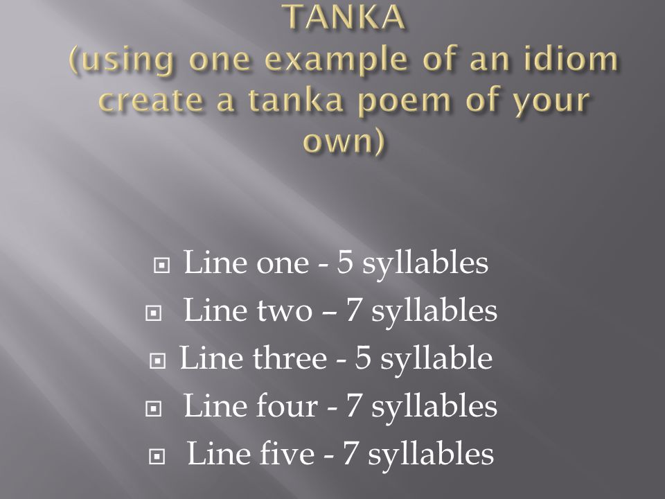 Poetry unit mrs stevens ppt video online download for Tanka poem template