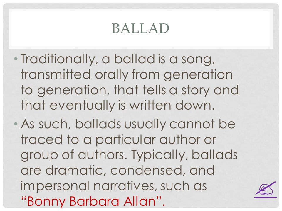 """bonny barbara allan a typical ballad essay What were the typical subjects for what do the dialogue and rhyme in lines 29–32 of the ballad """"barbara allan study questions for ballads author: jeff."""