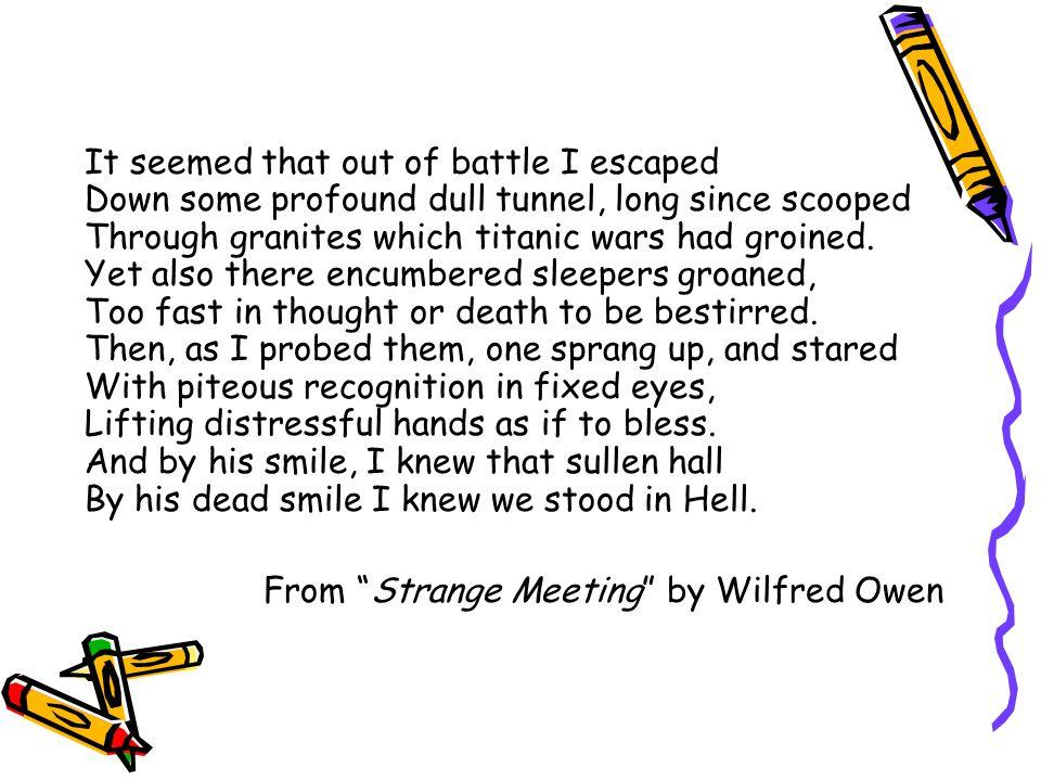 strange meeting wilfred owen pdf
