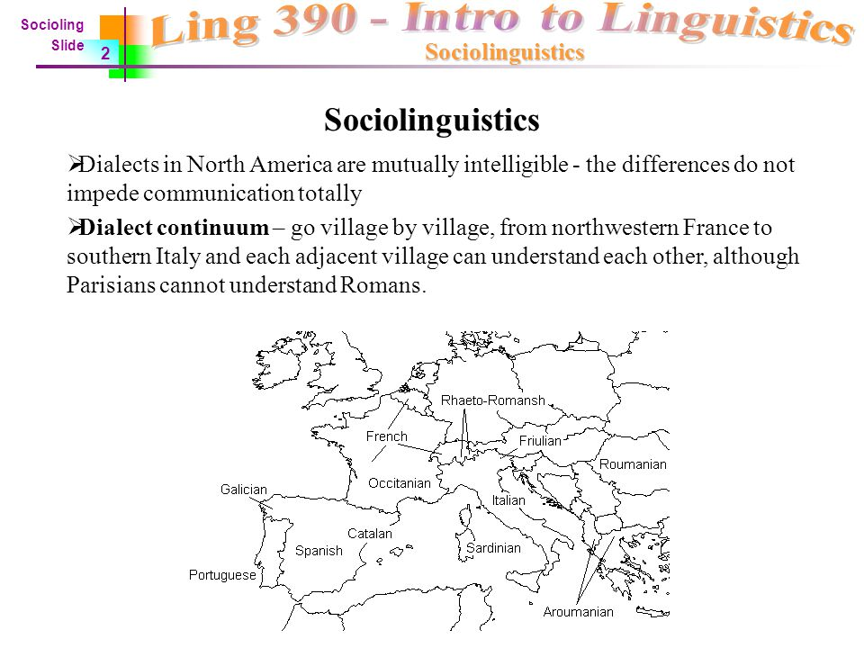 sociolinguistics dialect continuum and language essay Dialects of modern japanese i what is a dialect  • sometimes we find one-way intelligibility or a dialect continuum  (dialect) of a language becomes (the .
