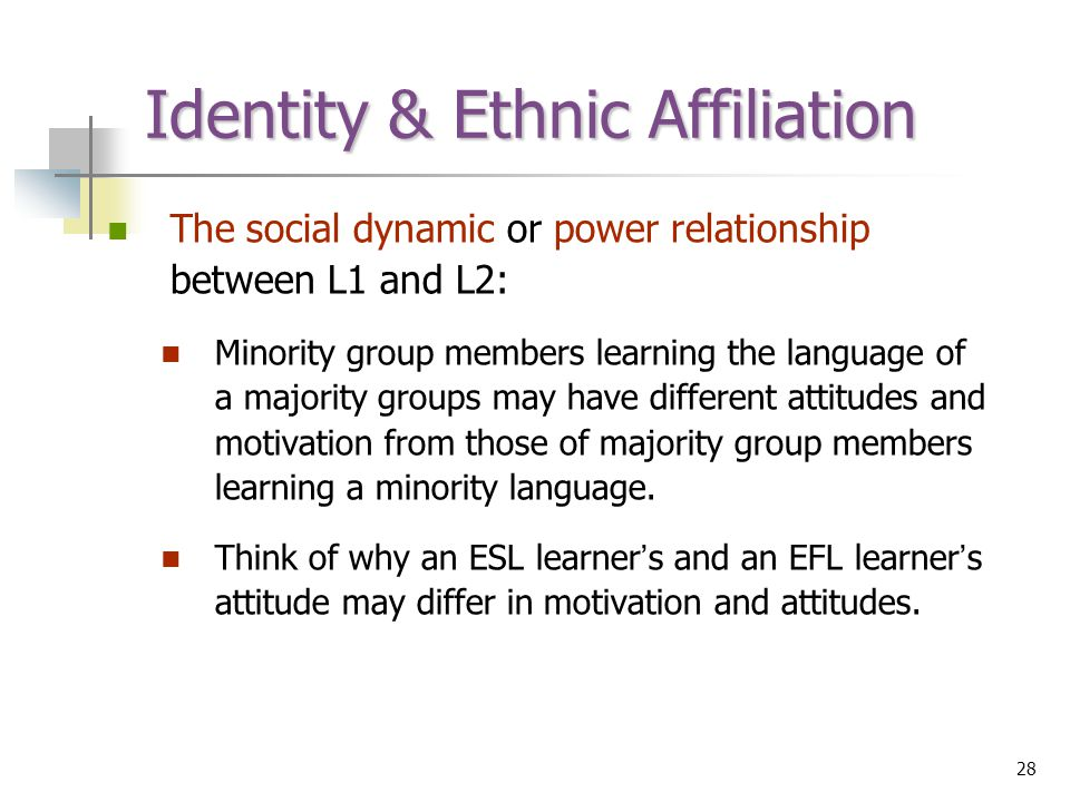 relationship between language and ethnic identity model