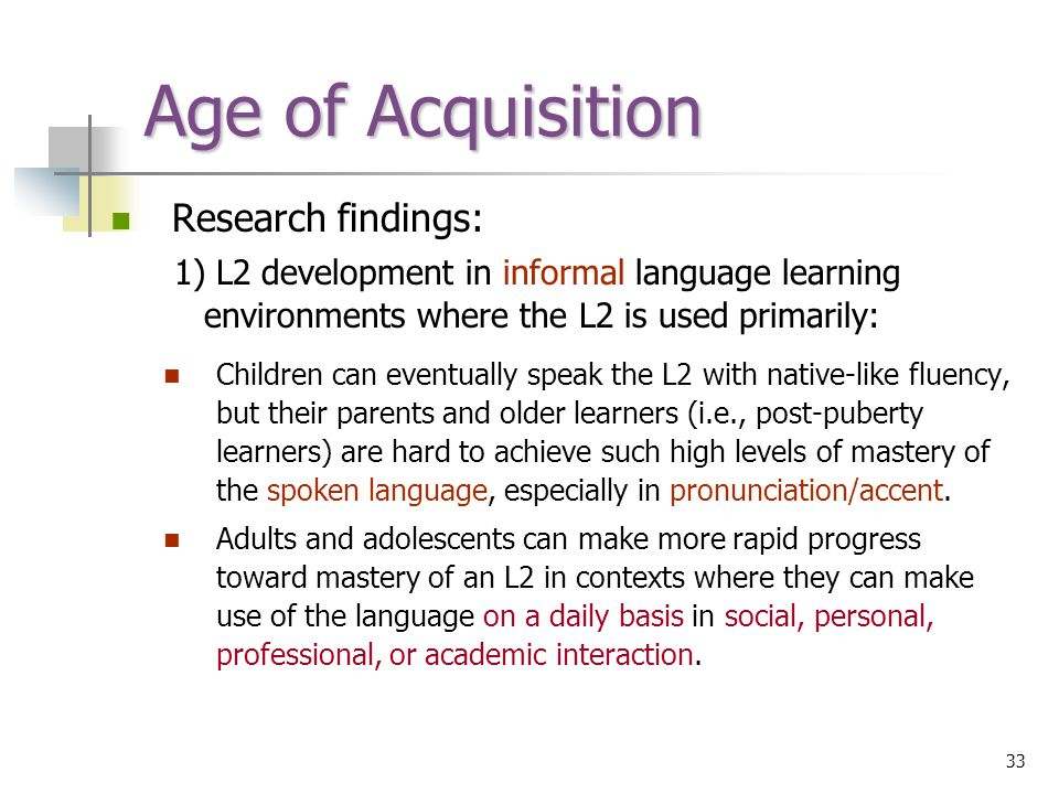 Cognitive Psychology About Language Acquisition