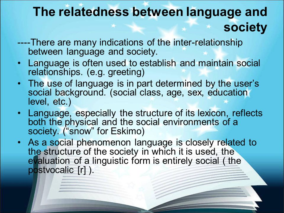 The interrelationship between social phenomena and