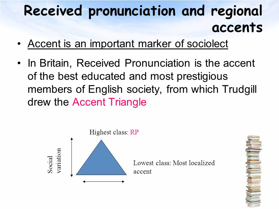 regional variation of english pronunciation Social variation territorial varieties of the english pronunciation  the study of  regional linguistic variation is very important the more we.