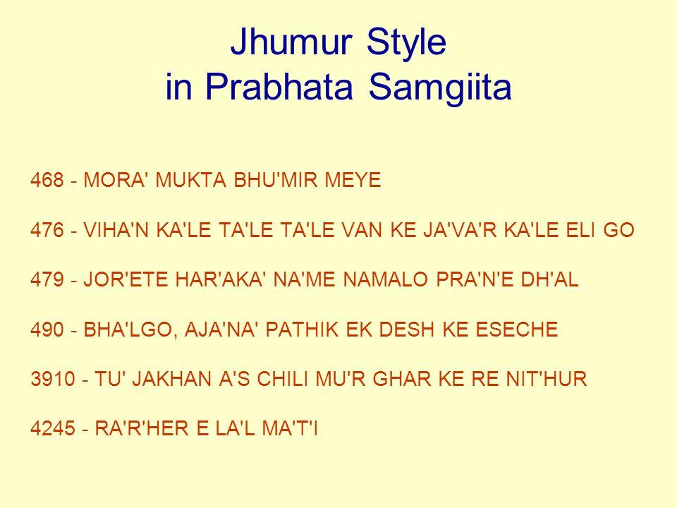 Jhumur Style in Prabhata Samgiita