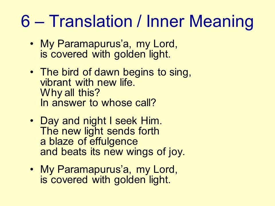6 – Translation / Inner Meaning