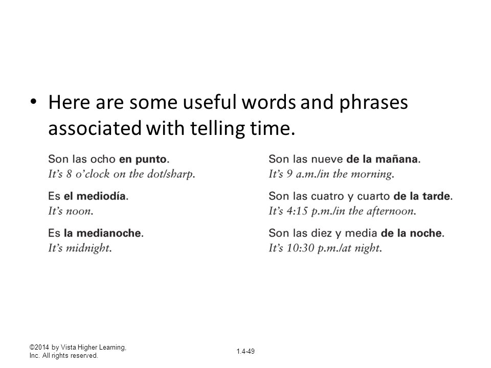 Here are some useful words and phrases associated with telling time.