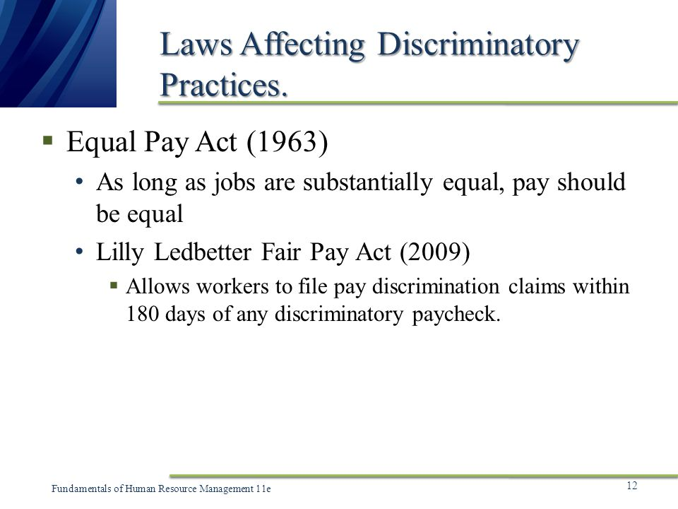 equal pay act The equal pay act is a simple concept with complex requirements and implications for your business adp provides data and expertise to help identify potential issues to help you attract and retain top talent.