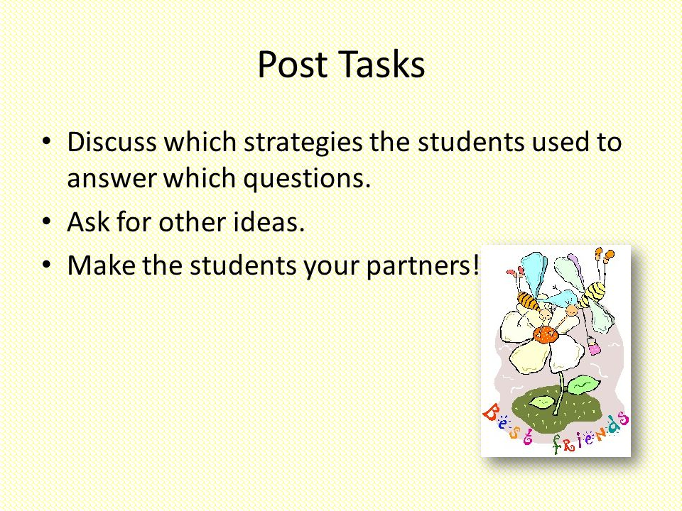 discuss the strategies that are used Questioning should be used to achieve well-defined goals an instructor  for  example, she might then ask, what is the definition of thesis statement or  what.