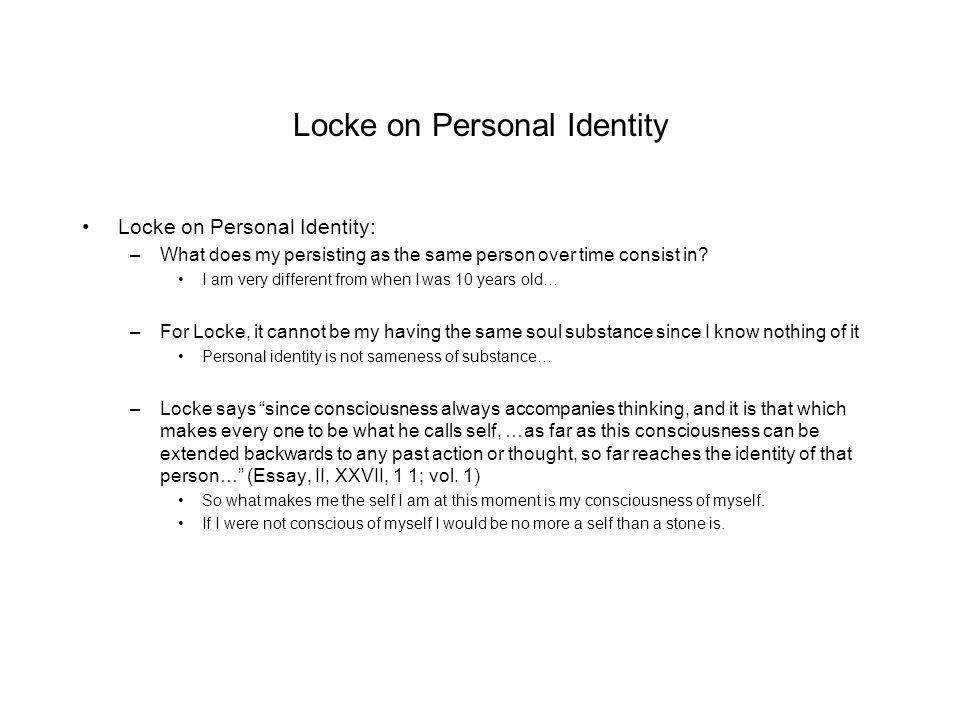 Soul Theory of Personal Identity&nbspEssay