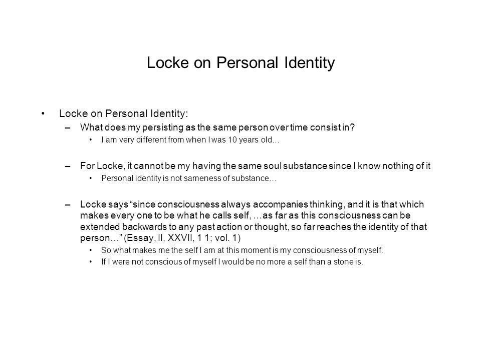 Locke personal identity essay