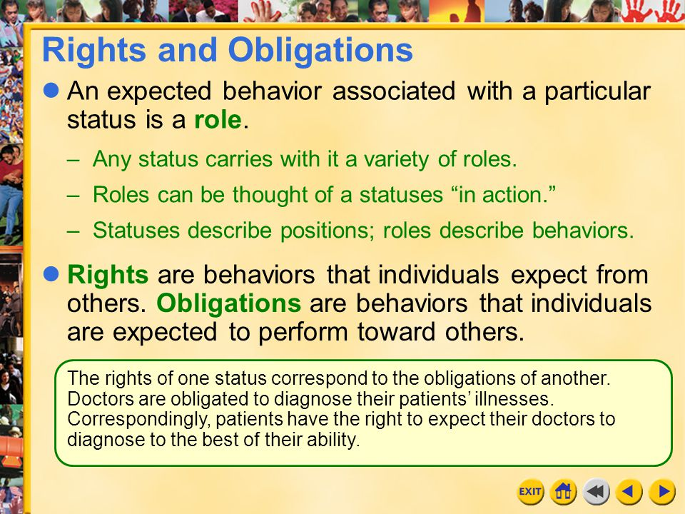 obligations kin have toward one another Sometimes rights conflict with one another or with other types of a violation of moral rules or obligations toward part 2 ethical requirements on action.