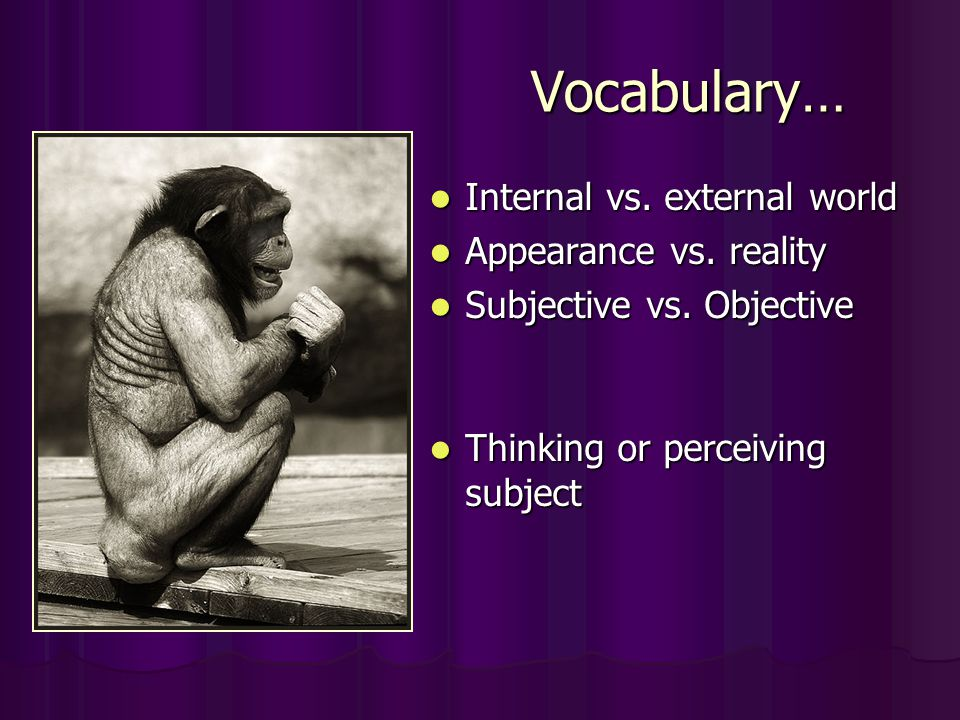 difference between objective and subjective reality Veritaserum highlights an important philosophical distinction: the difference  between subjective reality and objective truth although barty.