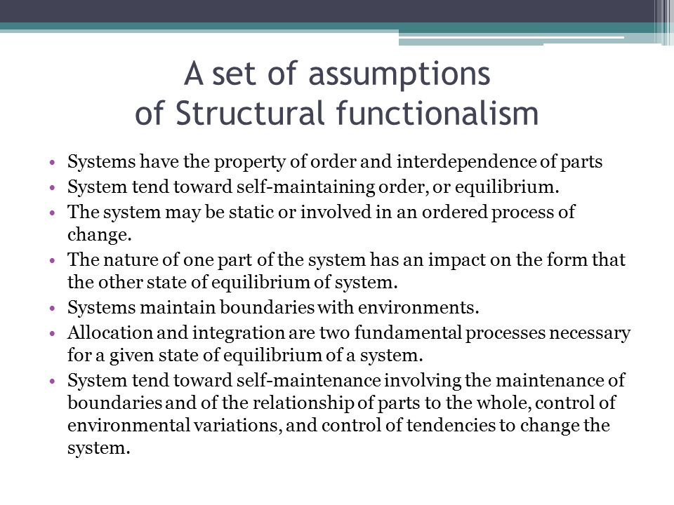 structual funtionallism Social issues essays: structural functionalism - conflict theory - symbolic interaction.