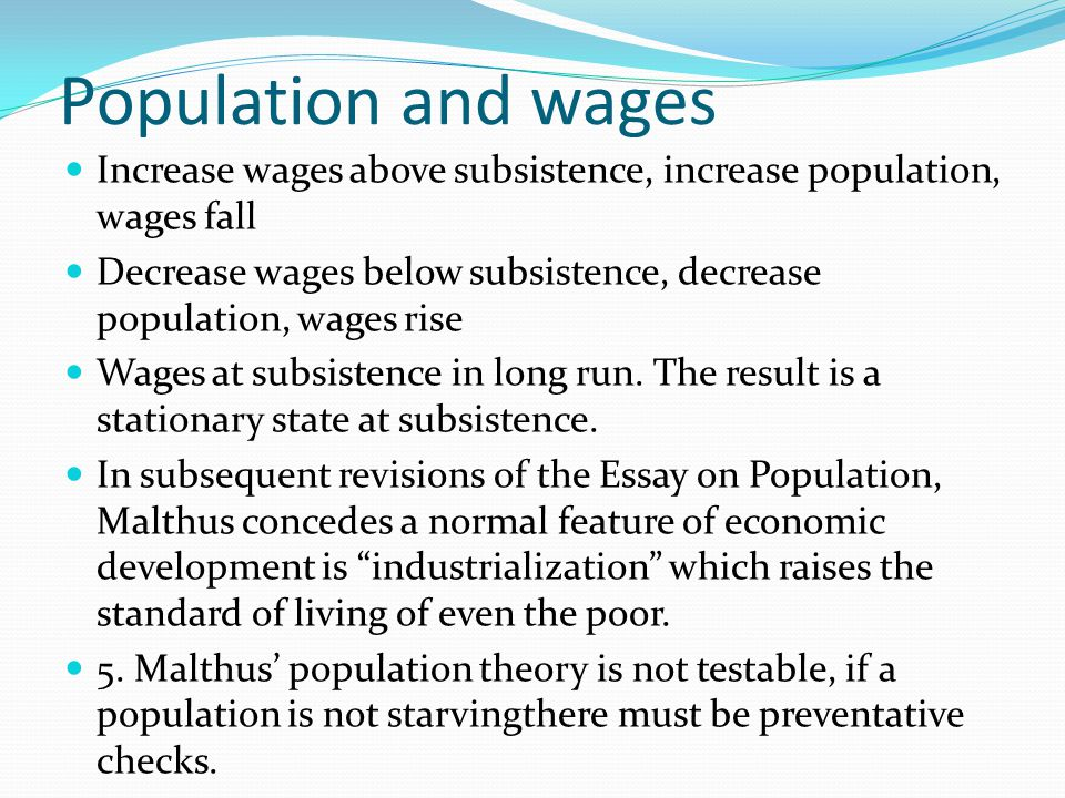 Increase in population essay