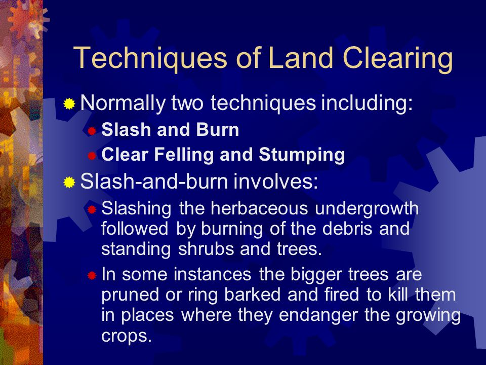 Techniques of Land Clearing