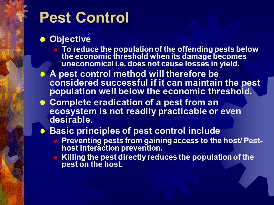 Pest Control Objective