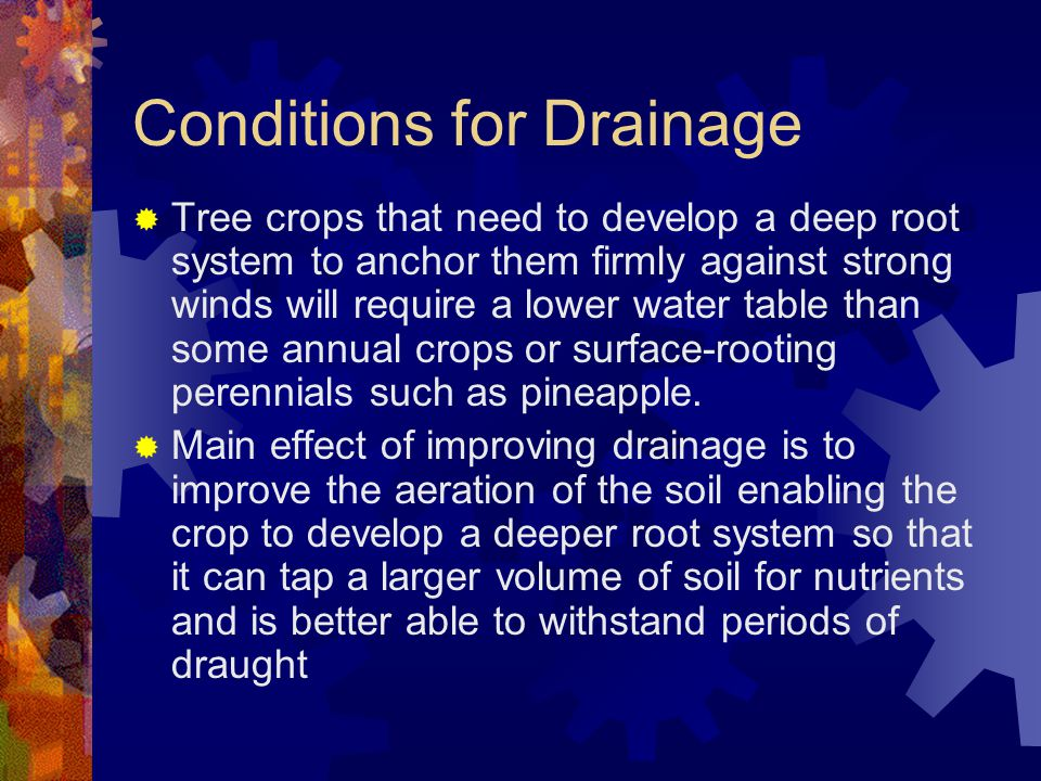 Conditions for Drainage