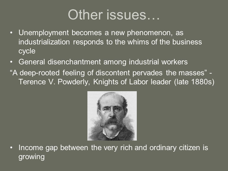 An analysis of the terence v powderly on labor problems in 1880s