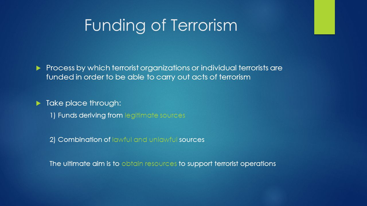 terrorism and individual terrorist acts The recent terrorist attacks in kenya and and the distortive impact that terrorism has on an individual's the economics student society of australia.