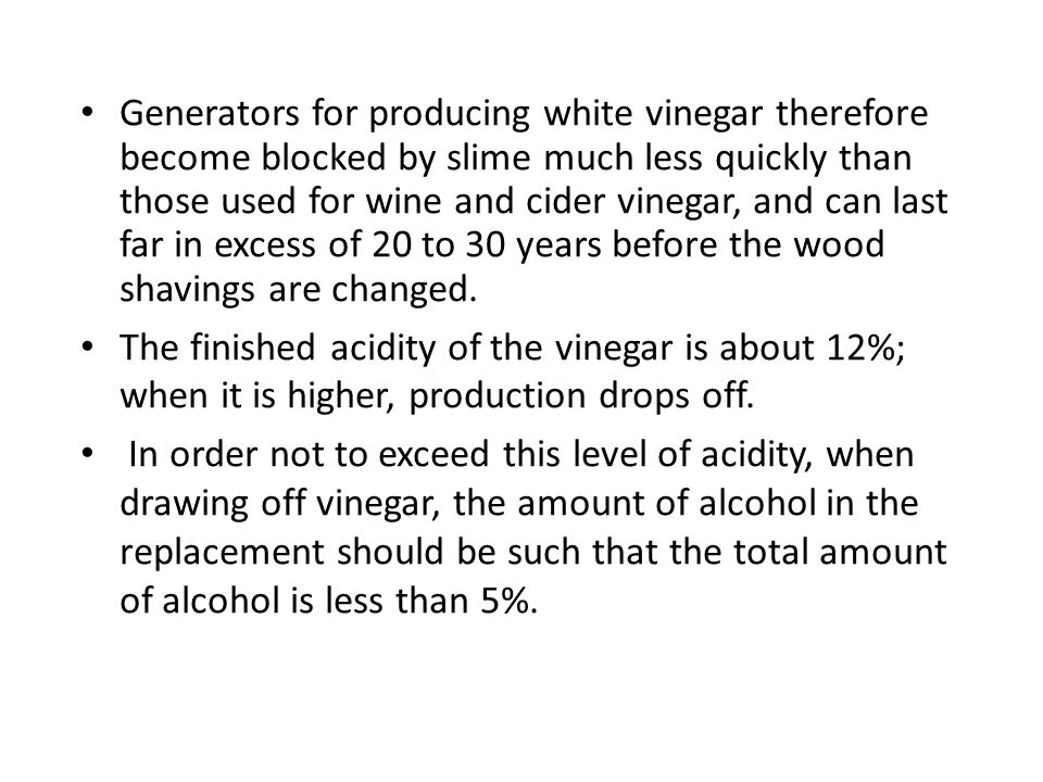 Production Of Vinegar Ppt Video Online Download
