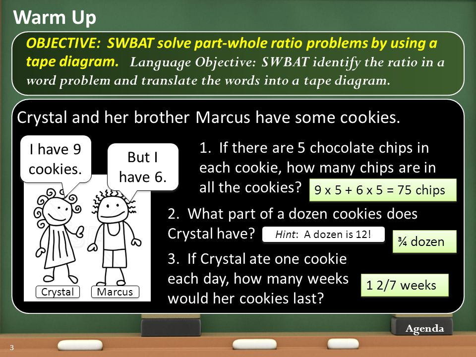 Using tape diagrams with part whole ratio problems ppt video 3 warm ccuart Gallery