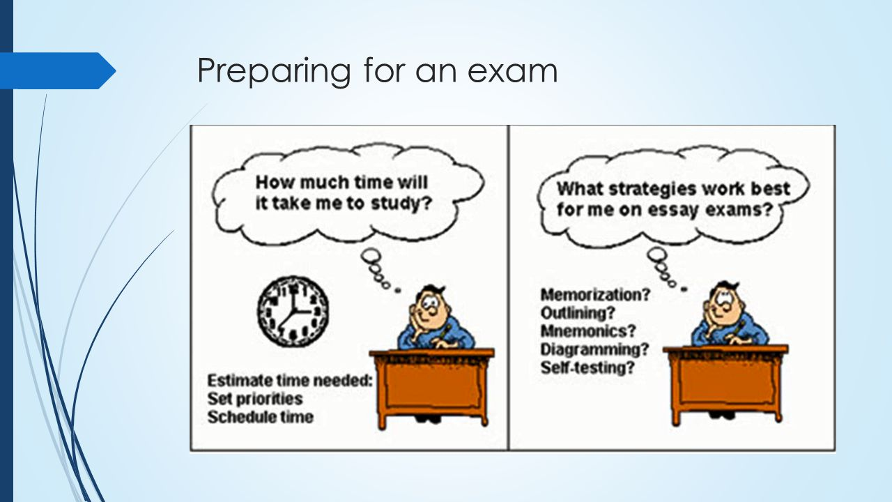 preparing for an exam Suppose a teacher is making an exam for her students, should we say she is preparing an exam or she is preparing for an exam likewise, should we.