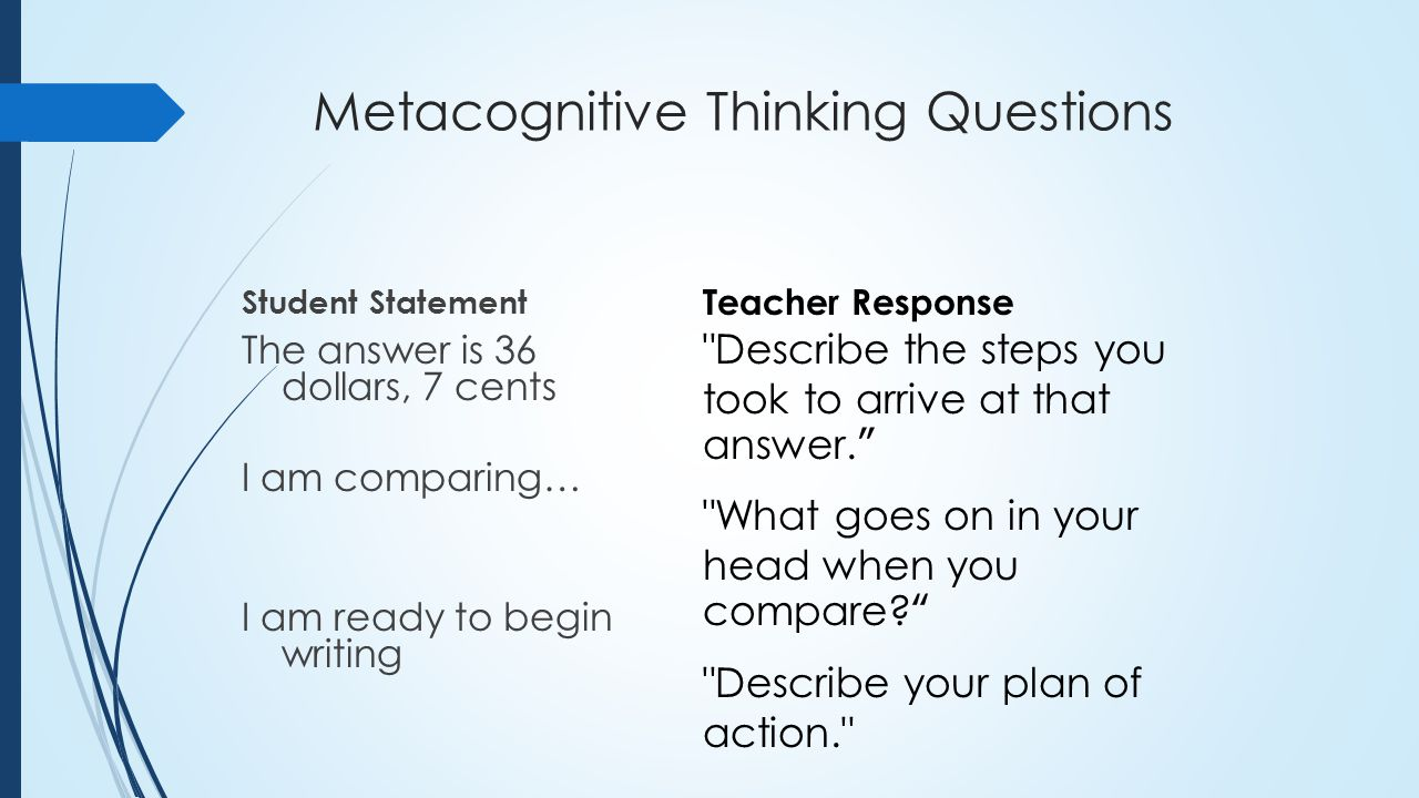 metacognition teaching thesis Transcript of cognitive & metacognitive strategies in writing skills cognitive & metacognitive strategies in writing skills teaching and learning in the.