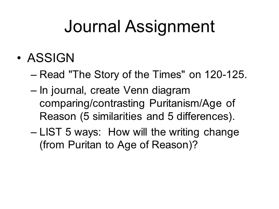 Writing Styles in the Puritan Time Period