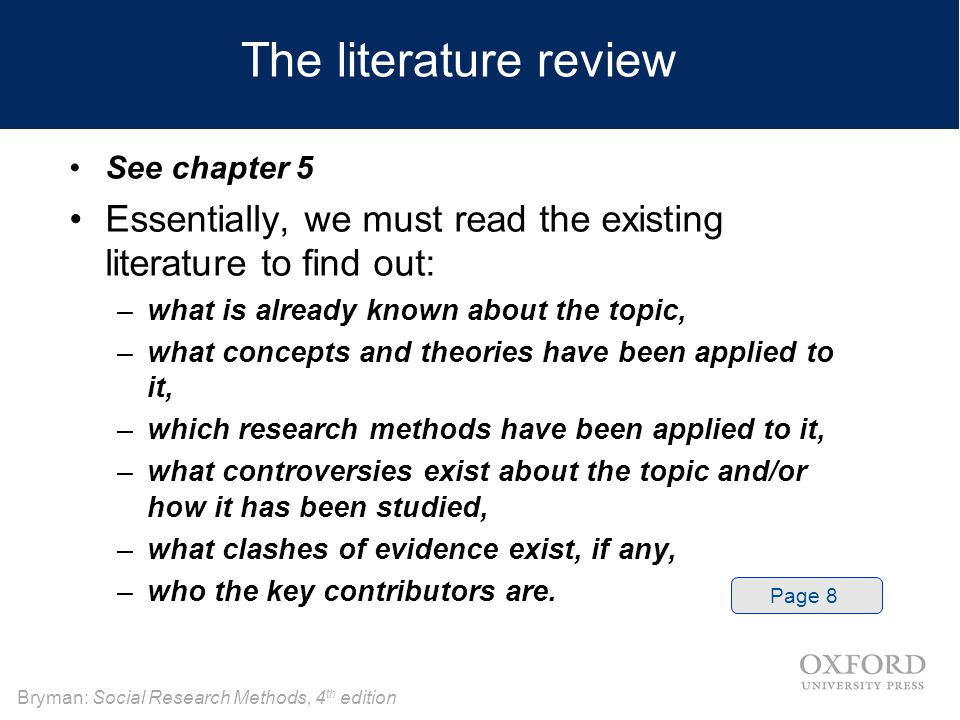 literature review on research methods Research methods literature review prior to beginning work on this assignment, review the qualitative and quantitative research designs encountered so fa.