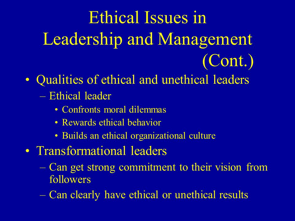 Transformational leadership example