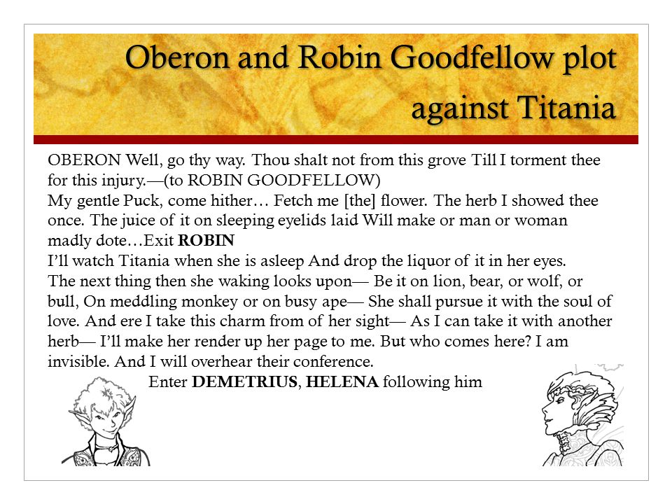 Oberon And Robin Goodfellow Plot Against Titania