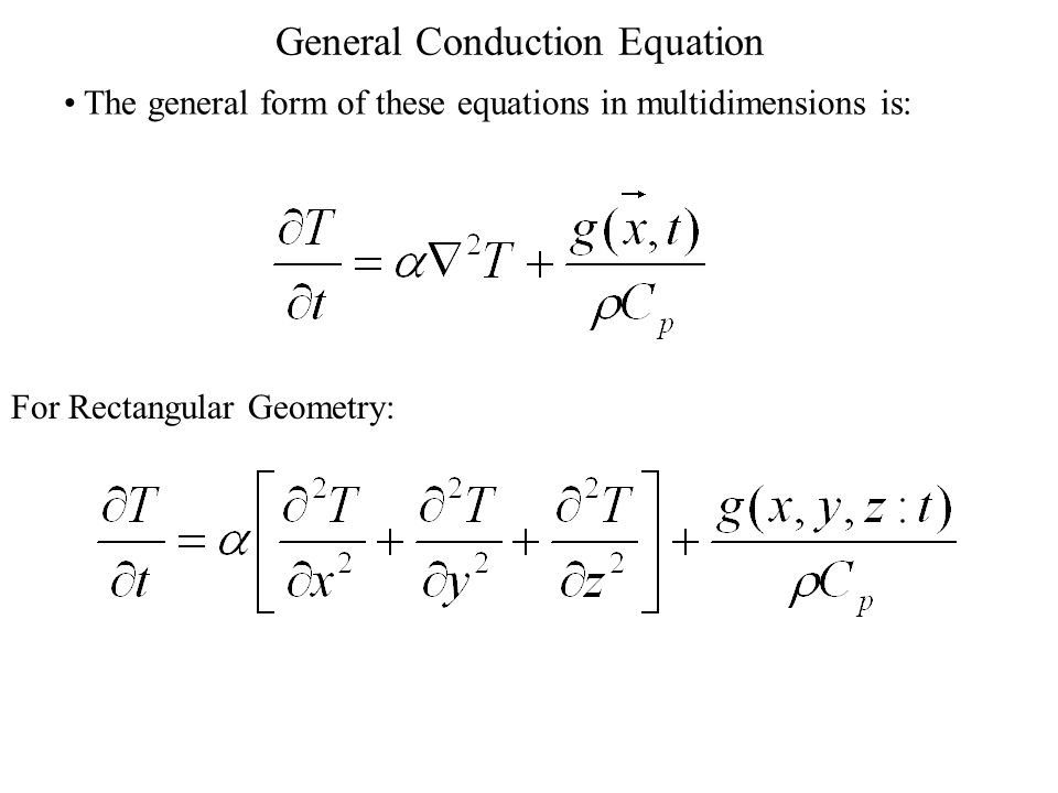 General Conduction Equation