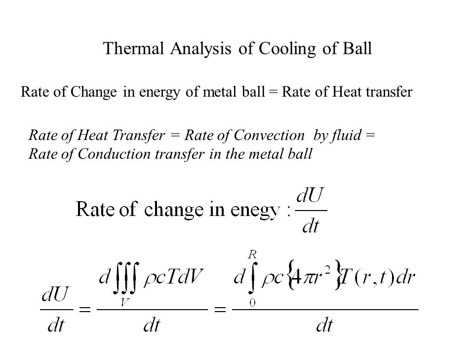 Thermal Analysis of Cooling of Ball