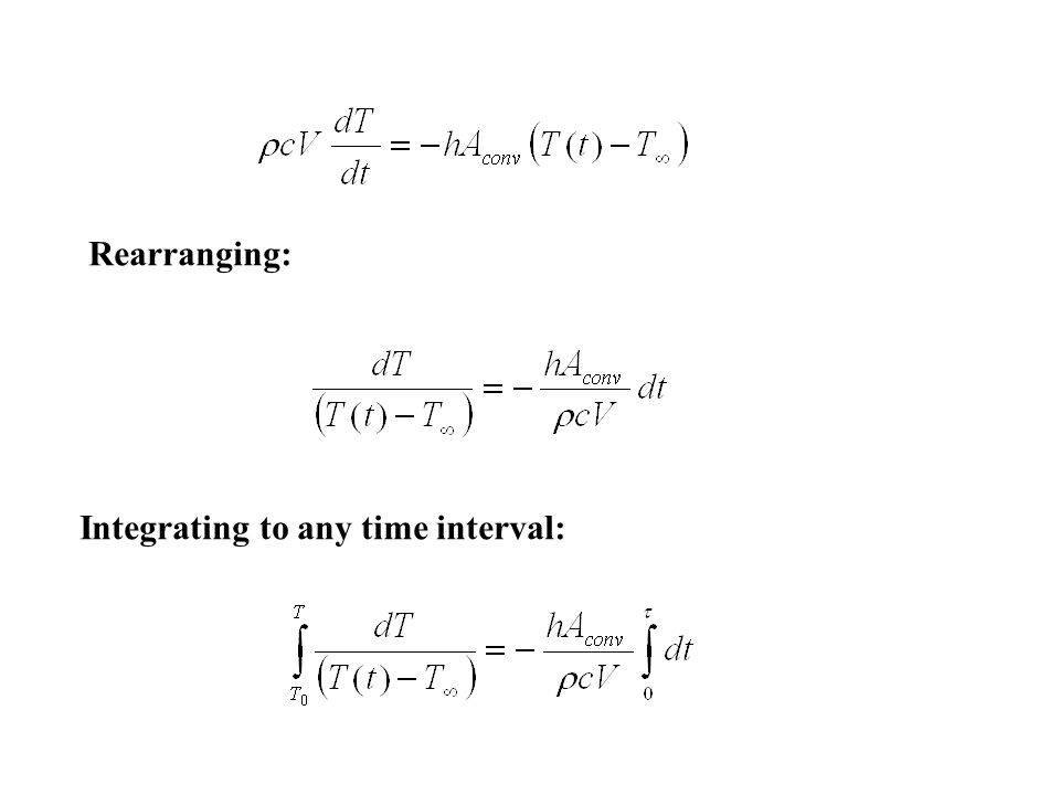 Rearranging: Integrating to any time interval: