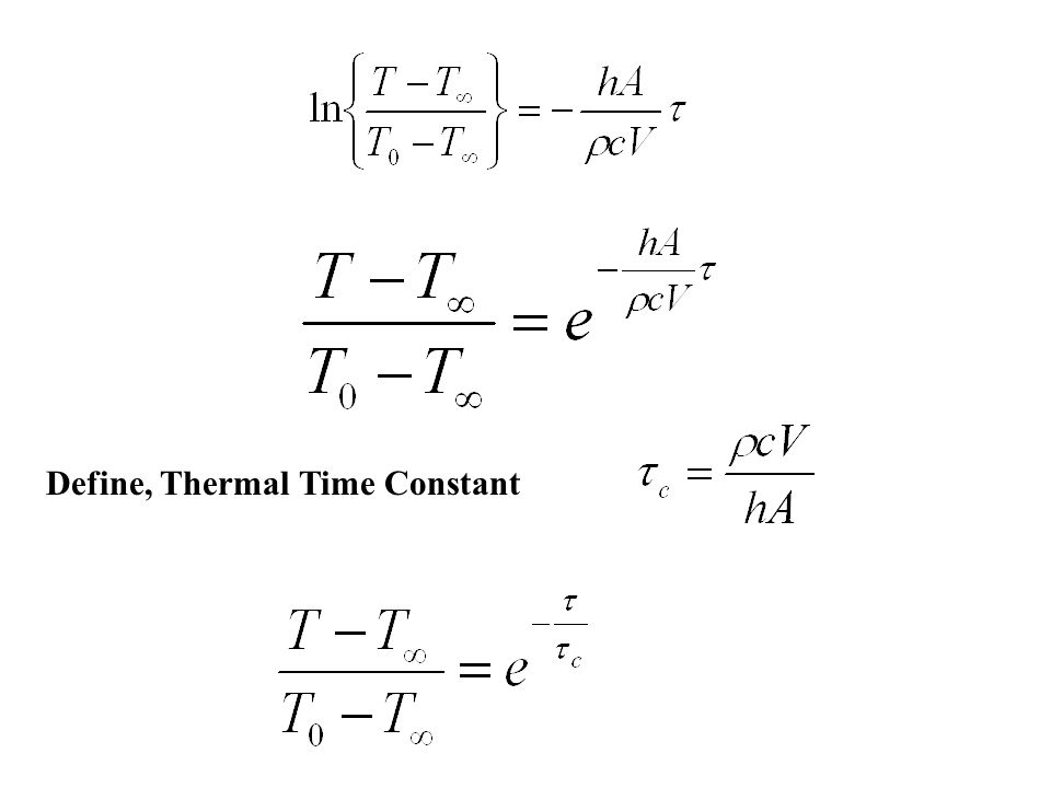 Define, Thermal Time Constant