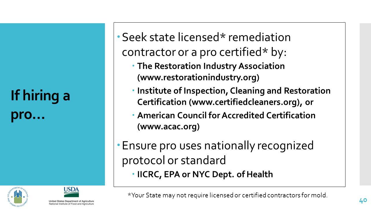 Mold Remediation Epa Mold Remediation Certification