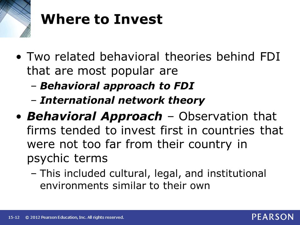 theories of foreign direct investment fdi Internationalisation, trade and foreign direct investment is the increase in both trade and foreign direct investment (fdi) flows that have been (1991), that the traditional theories of fdi flows that focus on firm-specific and locational advantages (see appendix a).