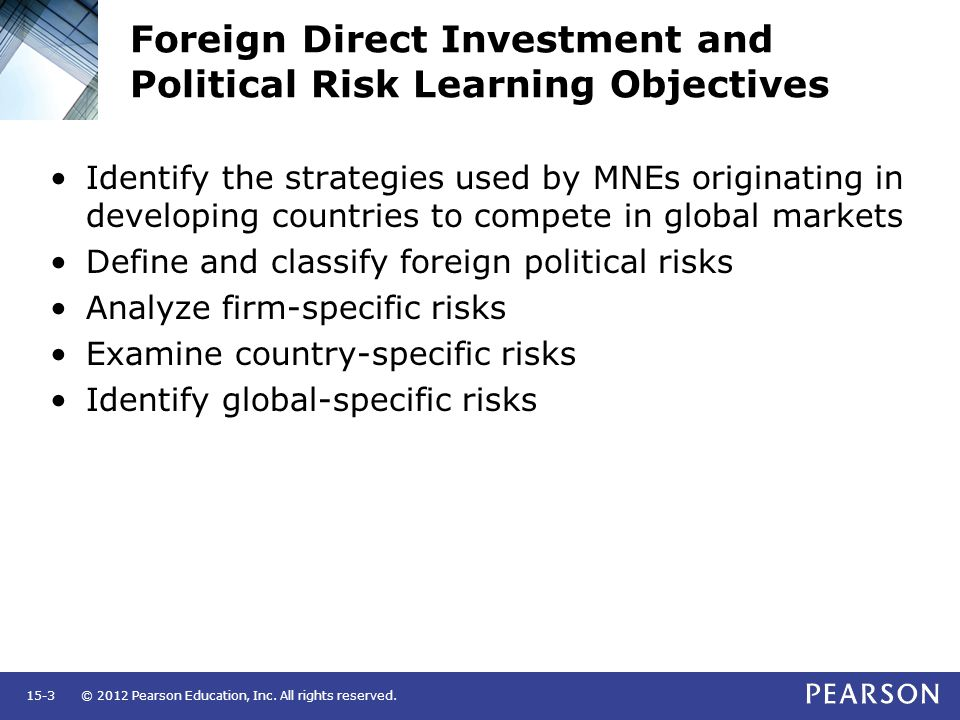 foreign direct investment country risk assessment The economist intelligence unit understand trends in foreign direct investment you can search the country risk service assists the bank in setting credit limits for countries and in controlling the risks that accompany investment in emerging and developed economies.