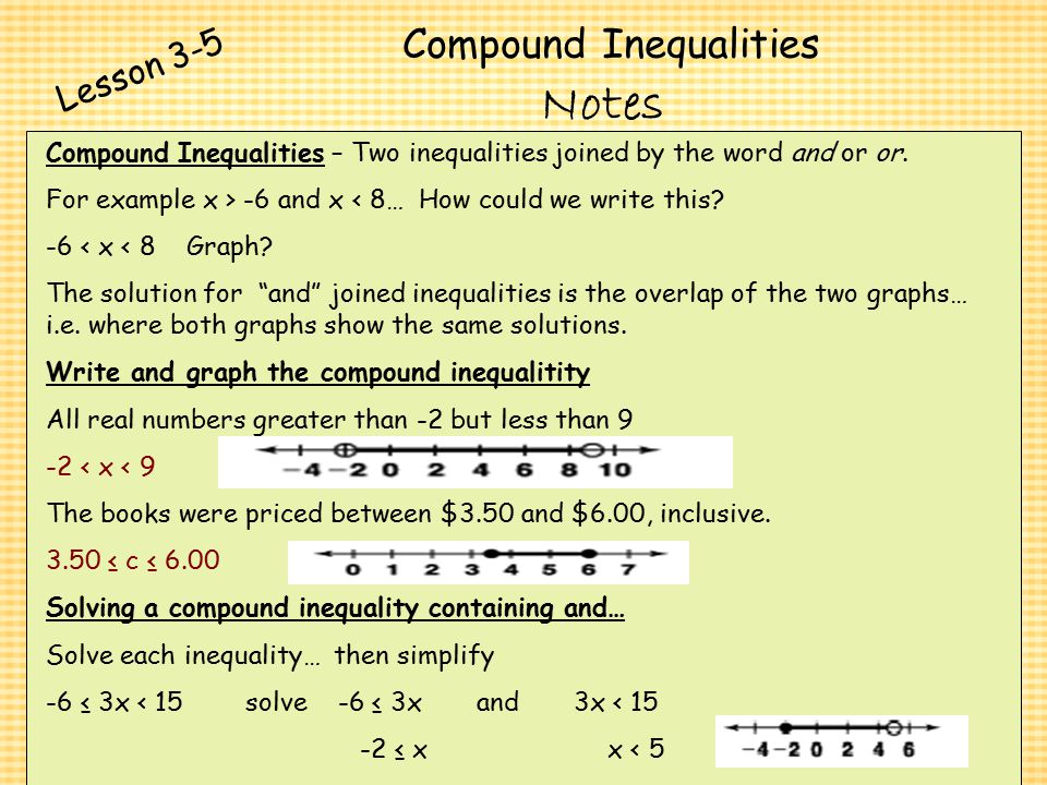 Chapter 3 Algebra I Algebra I Solving Inequalities ppt video – Compound Inequality Word Problems Worksheet