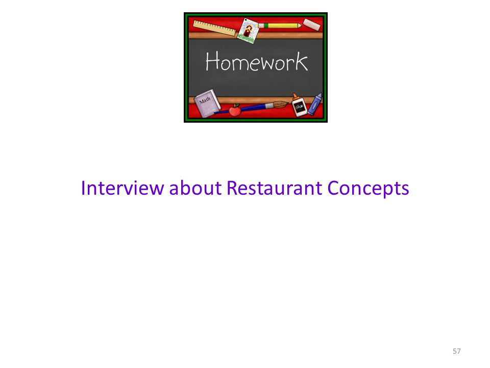 Interview about Restaurant Concepts