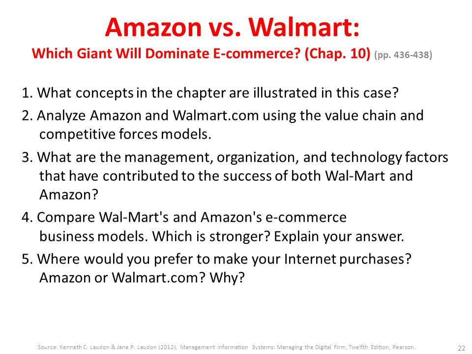 wal mart case answers