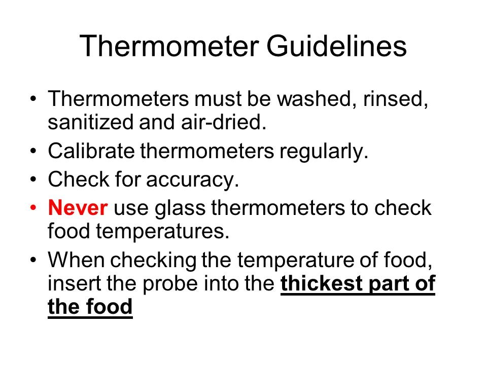 Thermometer Guidelines