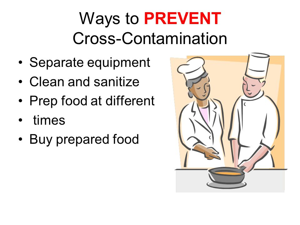 Ways to PREVENT Cross-Contamination