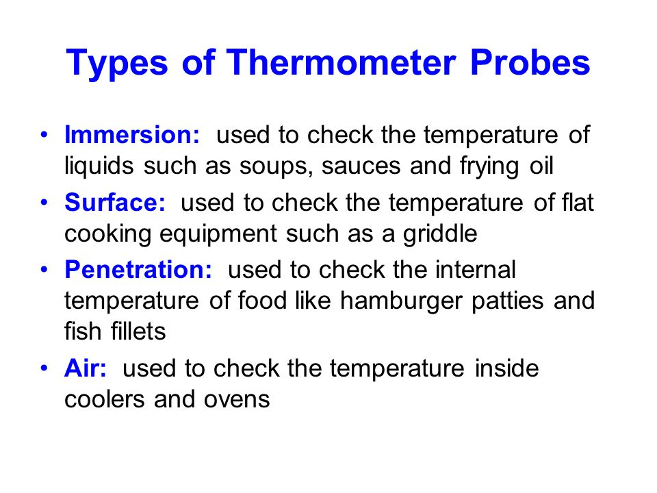 Types of Thermometer Probes