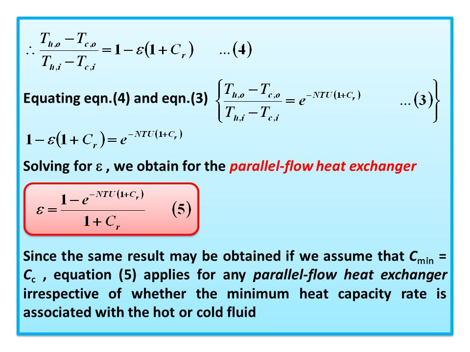 Equating eqn.(4) and eqn.(3)