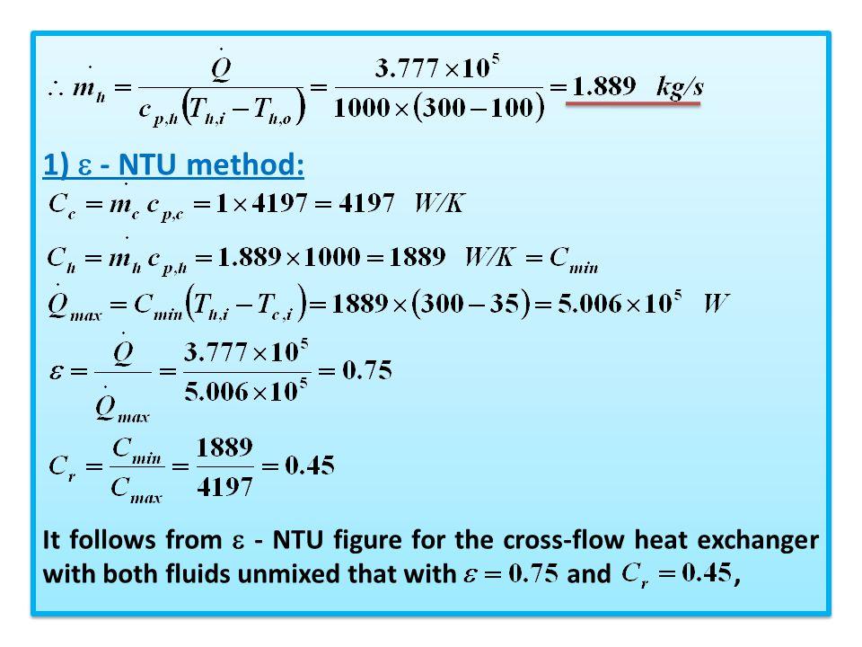1)  - NTU method: