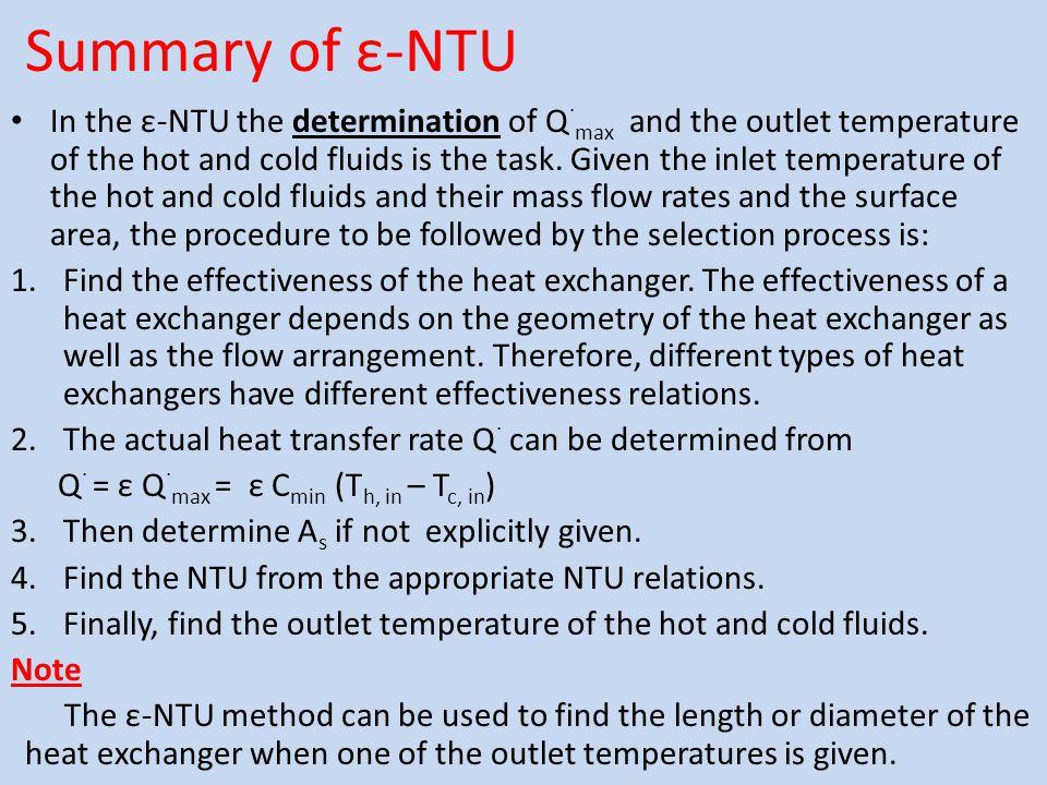 Summary of ε-NTU