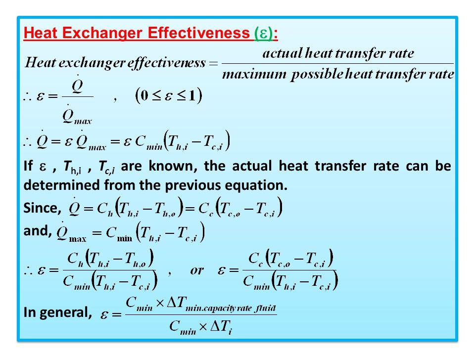 Heat Exchanger Effectiveness ():